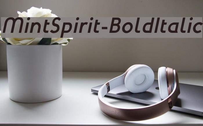 MintSpirit-BoldItalic لخطوط تنزيل examples