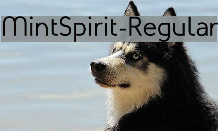 MintSpirit-Regular لخطوط تنزيل examples