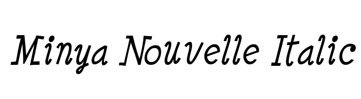 Minya Nouvelle Italic  Free Fonts Download