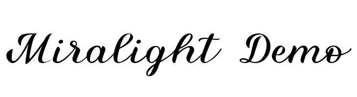 Miralight Demo  Free Fonts Download