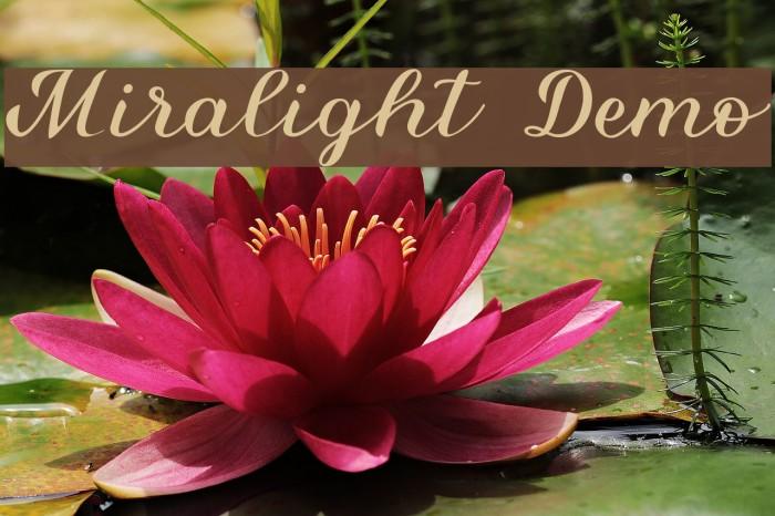 Miralight Demo Font examples