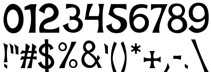 Mischievous Sans Serif Font Alte caractere