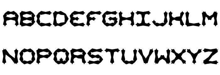 Mishmash ALT2 BRK Font UPPERCASE