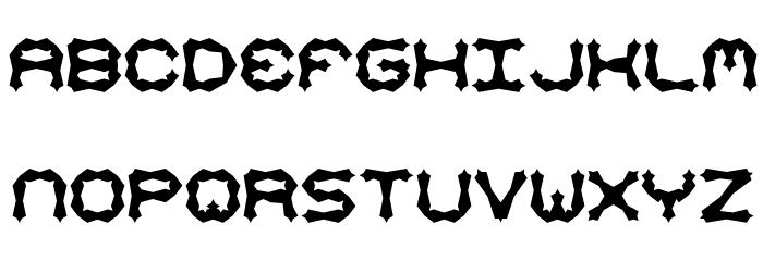 Mishmash ALT2 BRK Font LOWERCASE