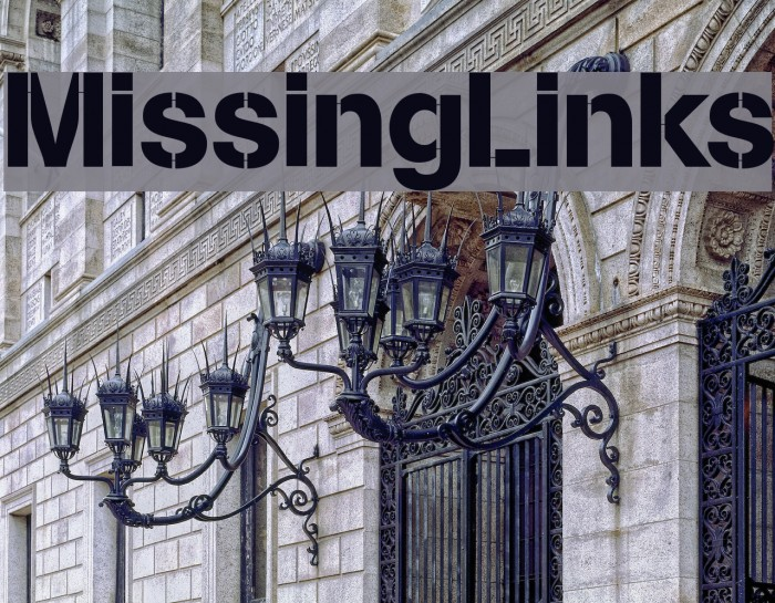 MissingLinks Font examples