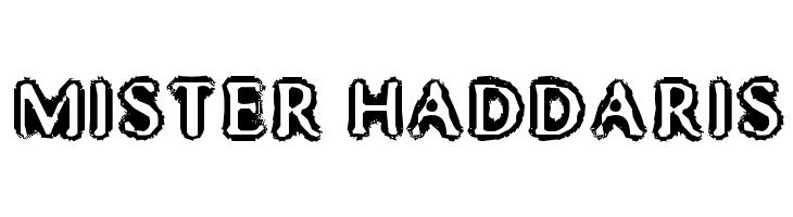 Mister Haddaris  Frei Schriftart Herunterladen
