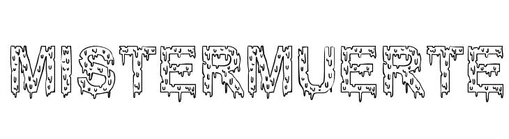 Mister Muerte  Скачать бесплатные шрифты