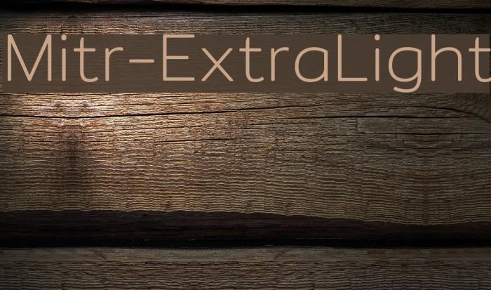 Mitr-ExtraLight Polices examples