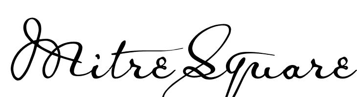 MitreSquare  Скачать бесплатные шрифты