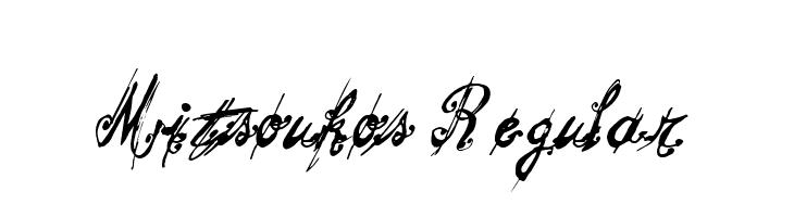 Mitsoukos Regular  フリーフォントのダウンロード