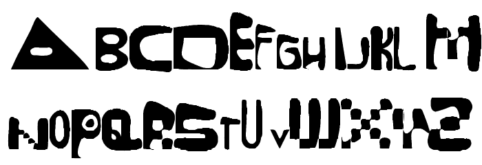 Mixed Up Distortio Regular Font UPPERCASE