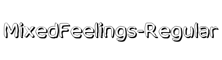 MixedFeelings-Regular  Free Fonts Download