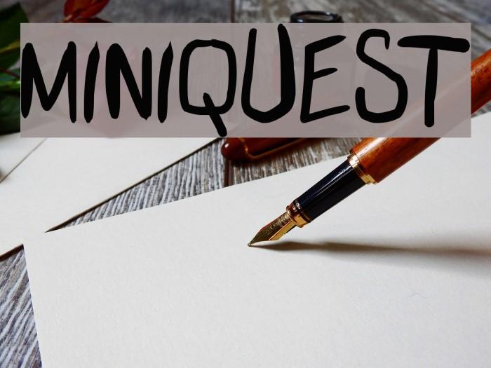 miniquest 字体 examples