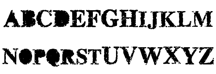 misprinted type Font UPPERCASE