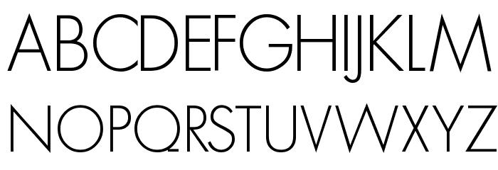 MKSansserifLightTallX Font UPPERCASE