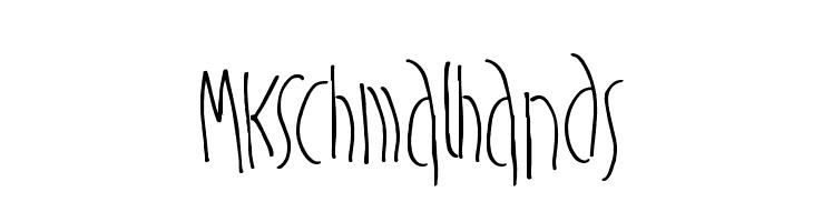 MKSchmalhands  Free Fonts Download