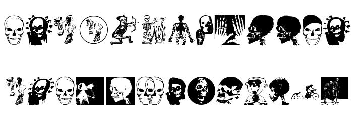 MKSkulls Font UPPERCASE
