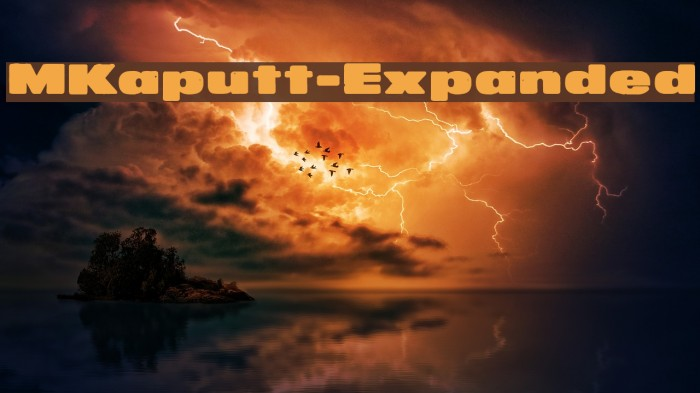 MKaputt-Expanded फ़ॉन्ट examples