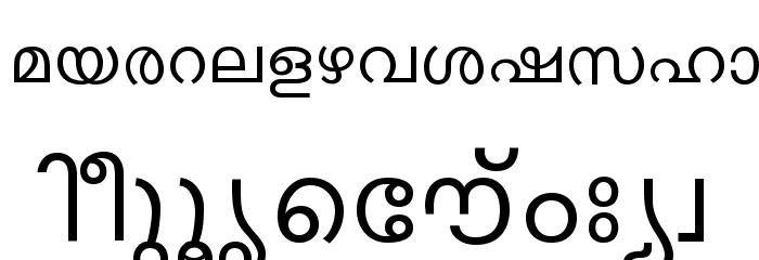 ML-TTKarthika Normal Font LOWERCASE