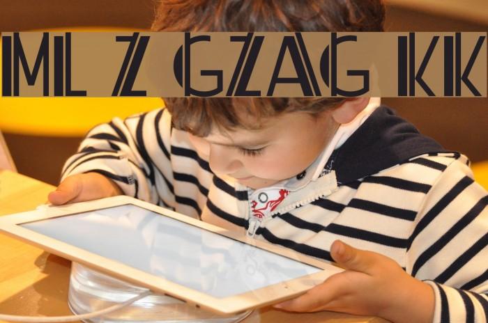 ML ZigZag KK Шрифта examples