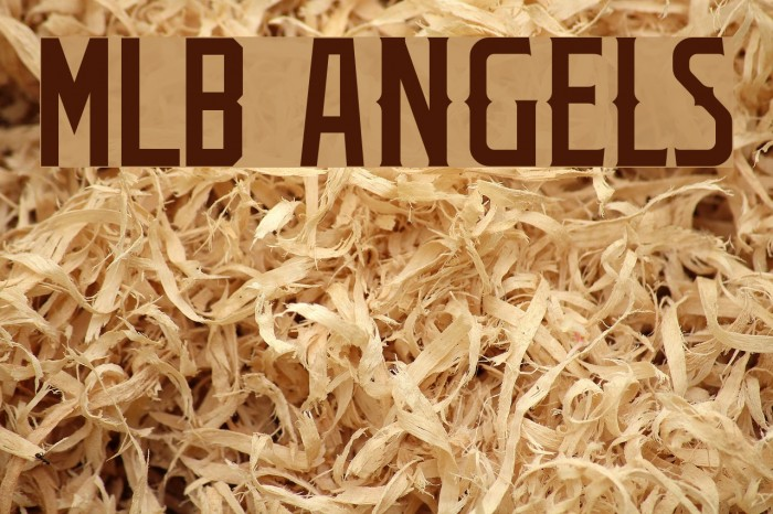Mlb Angels Font Free Fonts Download