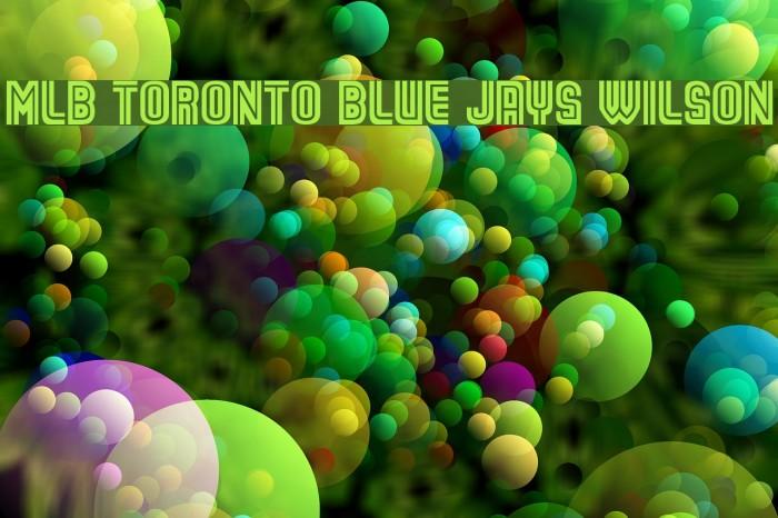 MLB Toronto Blue Jays Wilson फ़ॉन्ट examples