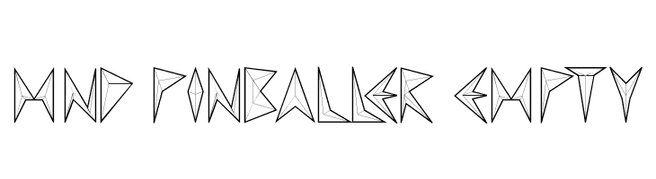MND Pinballer empty  Free Fonts Download