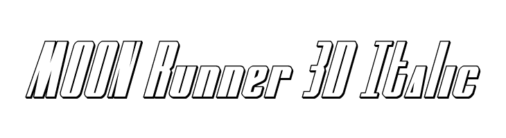 MOON Runner 3D Italic  Free Fonts Download