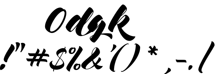 Mocking Bird Font OTHER CHARS