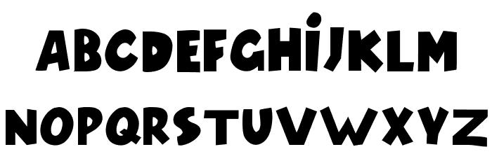 Model Font LOWERCASE