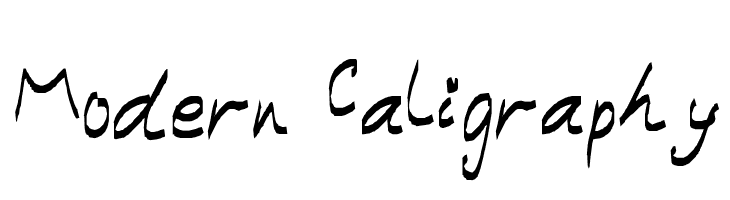 Modern Caligraphy  Free Fonts Download