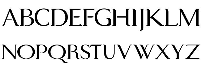 Modern KING Font UPPERCASE
