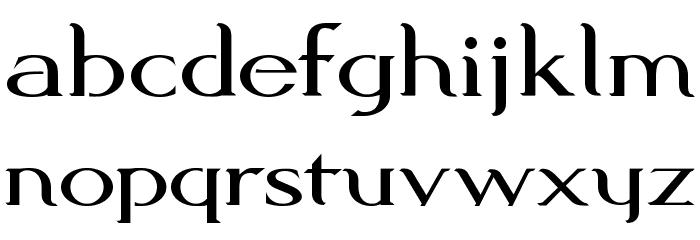 Modern KING Font LOWERCASE