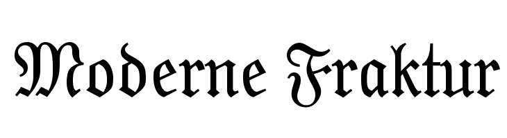 Moderne Fraktur  Free Fonts Download