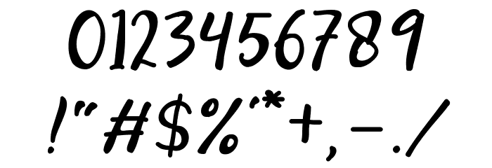 Modesta-Script Font OTHER CHARS