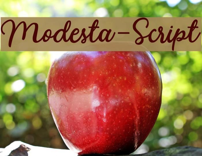 Modesta-Script Caratteri examples