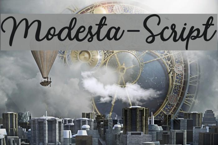 Modesta-Script Font examples