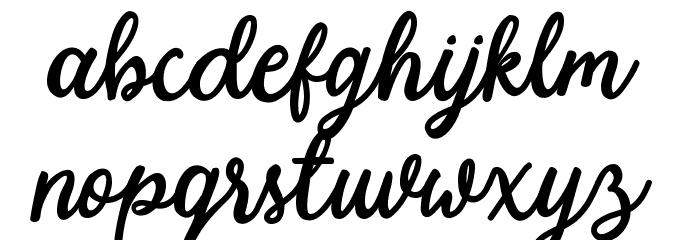 Modesta-Script Schriftart Kleinbuchstaben