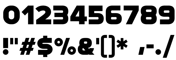 Modia-NonCommercial Font OTHER CHARS