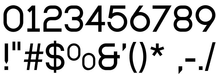 Modulario Шрифта ДРУГИЕ символов