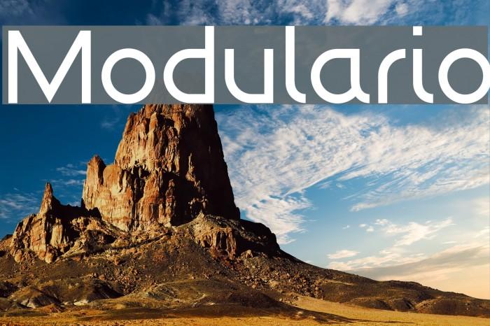 Modulario Шрифта examples