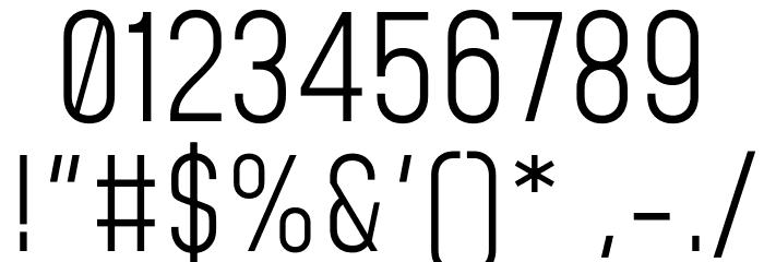 Mohave Light Шрифта ДРУГИЕ символов