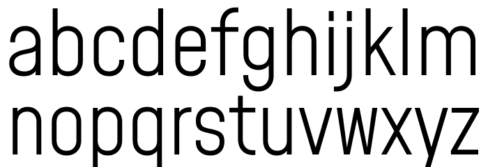 Mohave Light Шрифта строчной