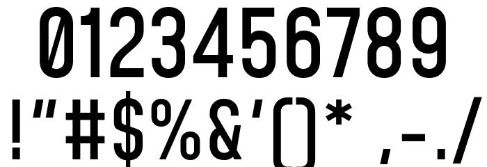 Mohave Medium Шрифта ДРУГИЕ символов