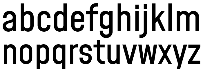 Mohave Medium Шрифта строчной