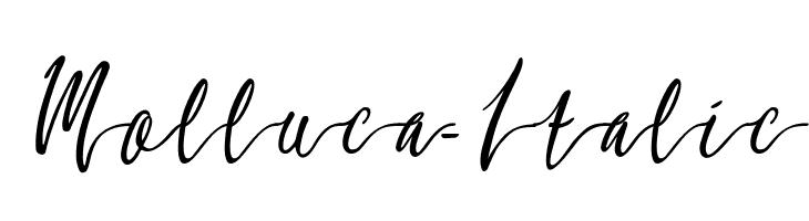 Molluca-Italic  नि: शुल्क फ़ॉन्ट्स डाउनलोड