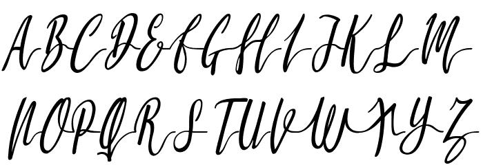 Molluca-Italic फ़ॉन्ट अपरकेस