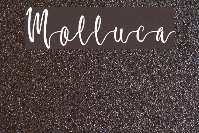 Molluca फ़ॉन्ट examples
