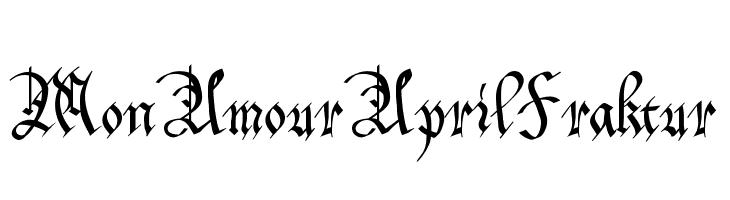 MonAmourAprilFraktur  Скачать бесплатные шрифты