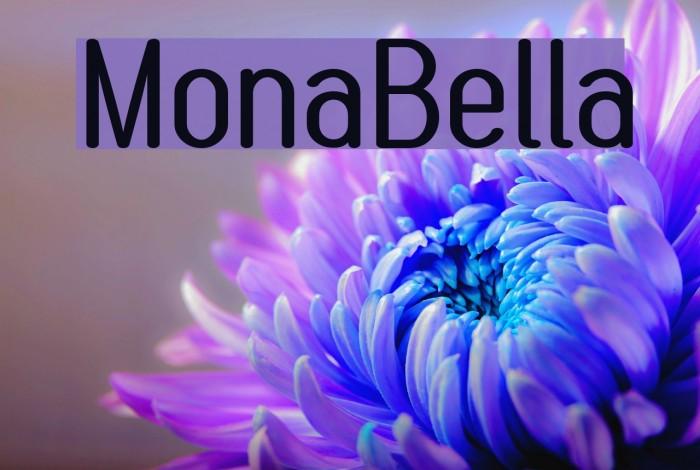 MonaBella Font examples
